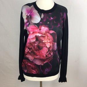 Ted Baker Loolie Black Floral Print Sweater